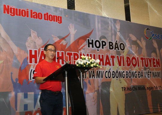Phó TBT Báo Người Lao Động Bùi Thanh Liêm phát biểu tại buổi họp báo