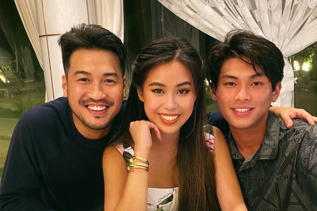 Ba anh em Phillip Nguyễn, Tiên Nguyễn và Hiếu Nguyễn (từ trái sang). (Ảnh: Instagram).