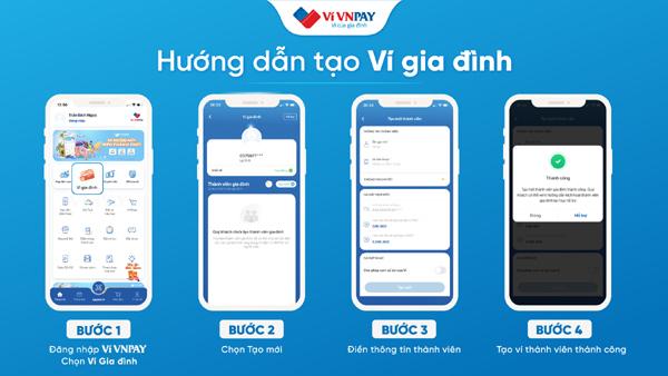 Hướng dẫn mở ví gia đình trên ví VNPAY
